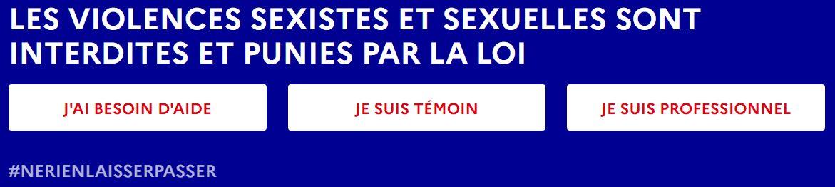 BANDEAU ARRETONS LES VIOLENCES - Violences sexuelles, conjugales et intra-familiales