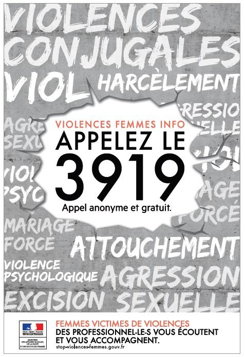 3919 - Violences sexuelles, conjugales et intra-familiales