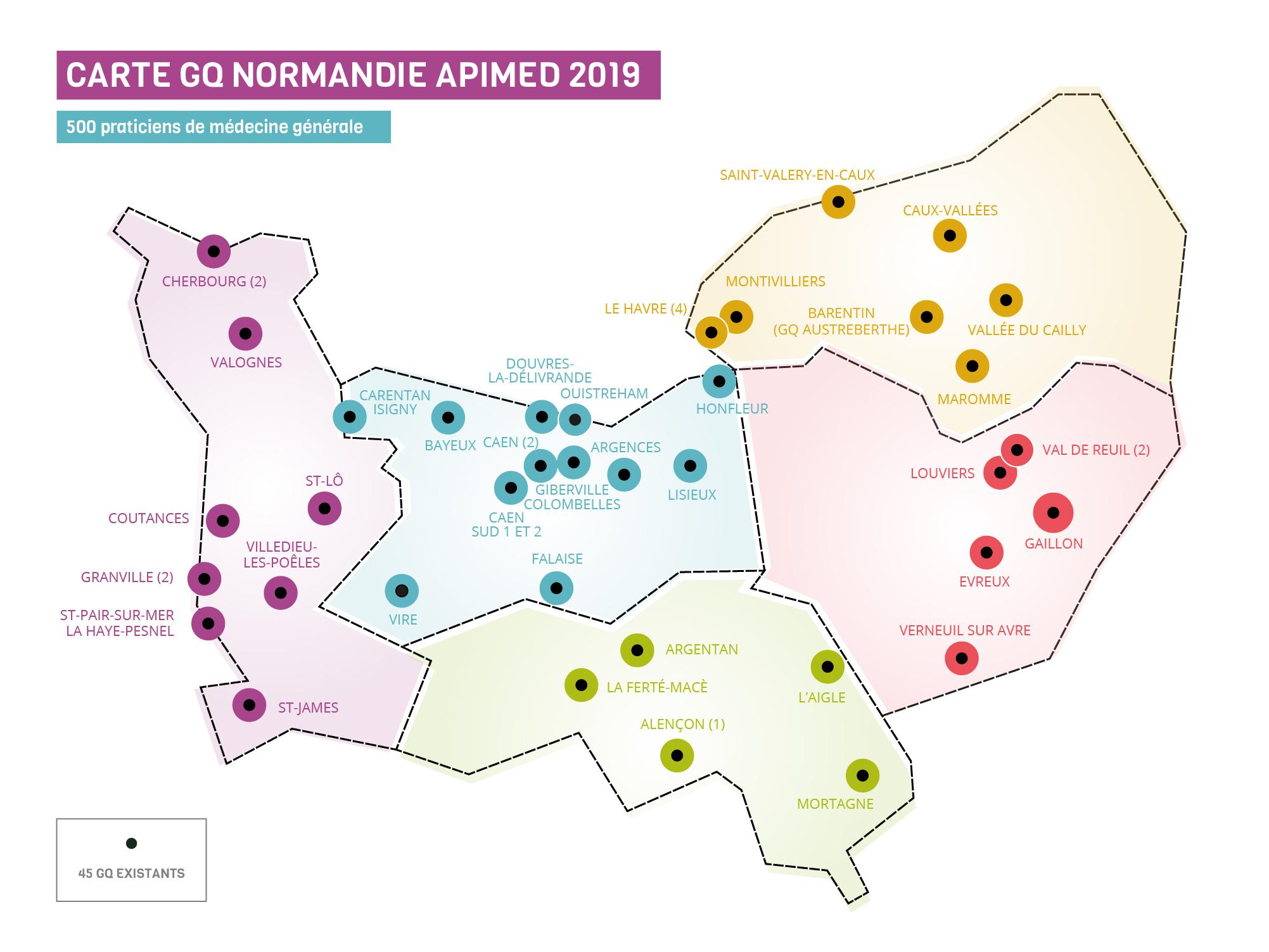 urml carte GQ Normandie 2019 02 - Les Groupes Qualité normandie en image