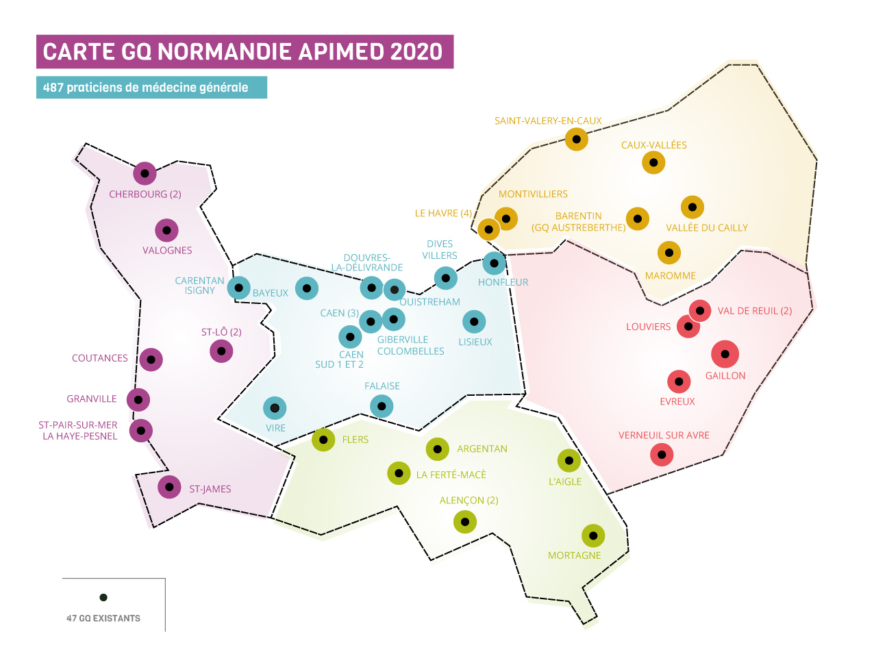 urml carte GQ Normandie 2020 03 - Les Groupes Qualité normandie en image