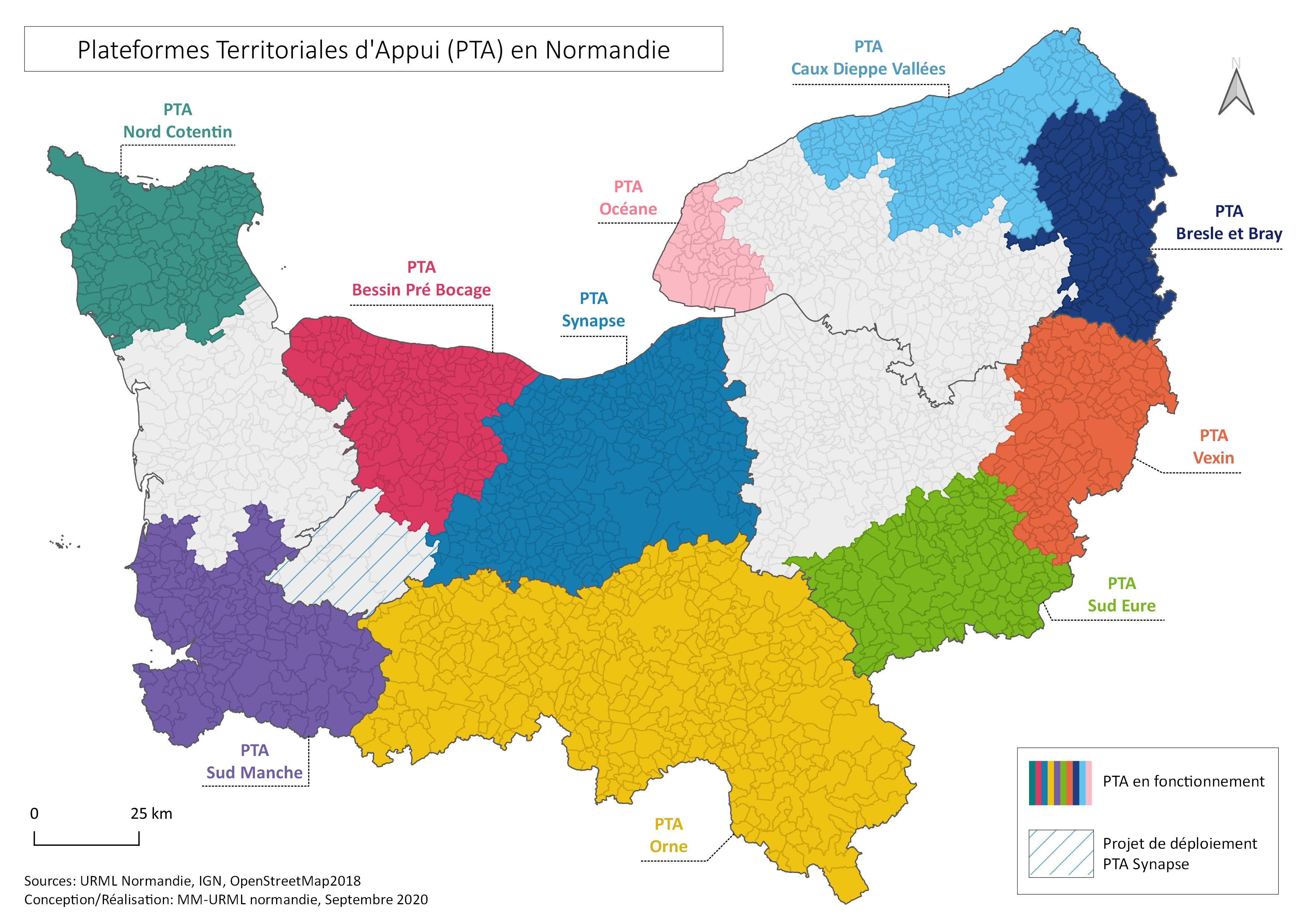 CARTE PTA SEP20 - PTA - Plateforme <br>Territoriale d'Appui