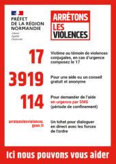Affichette violences A5 170x240 - Violences sexuelles, conjugales et intra-familiales