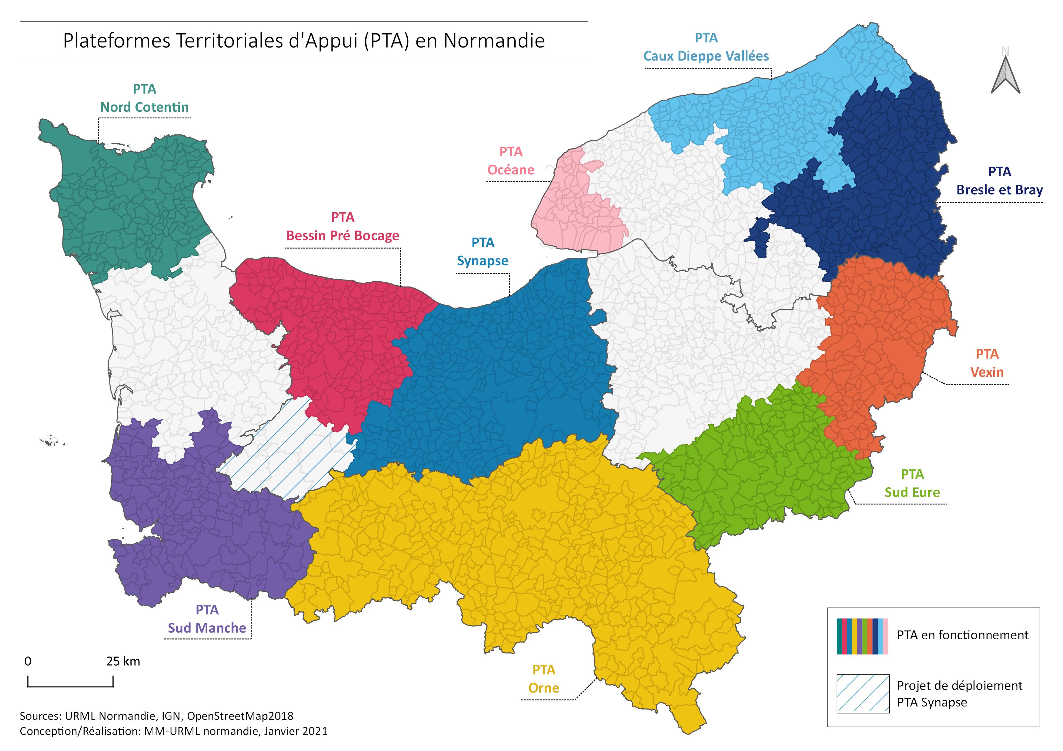 CARTE PTA JANV2021 - PTA - Plateforme <br>Territoriale d'Appui