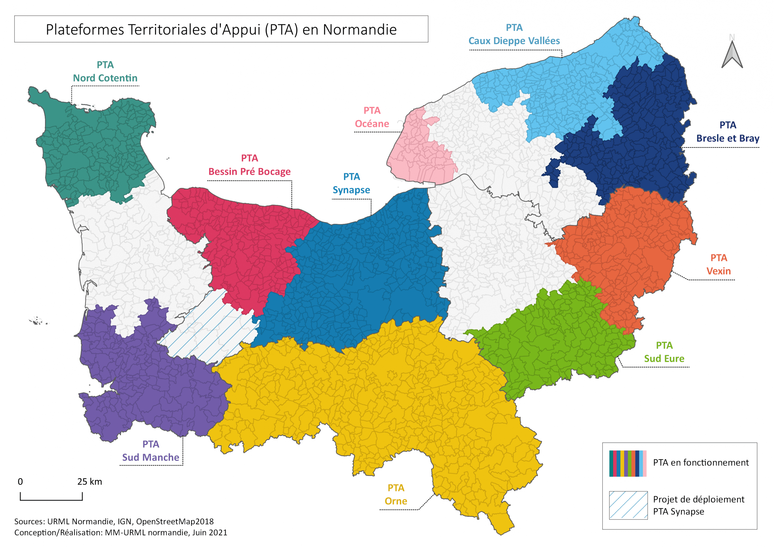 MAJ CARTE PTA - PTA - Plateforme <br>Territoriale d'Appui