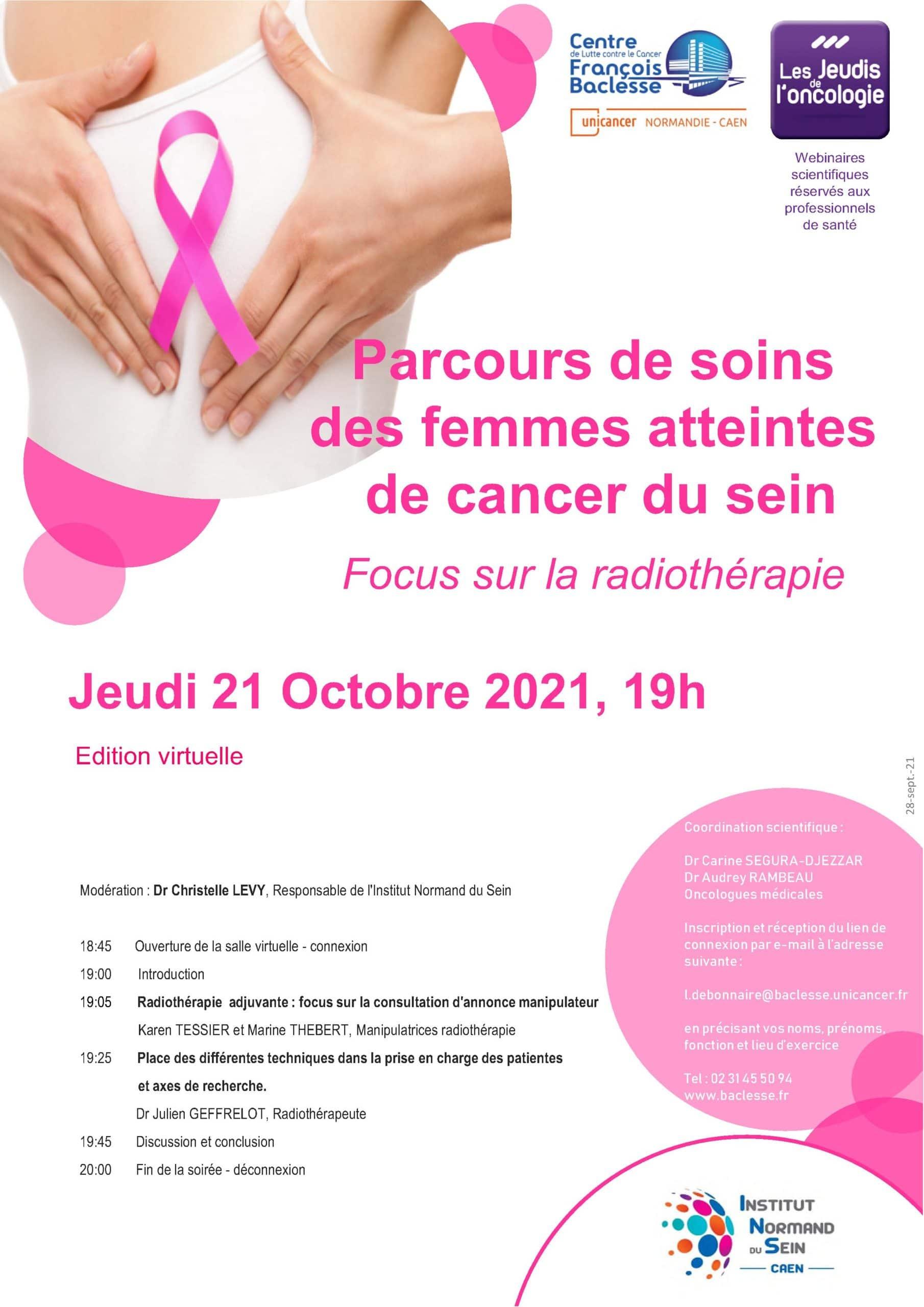 Jeudi 21OCTOBRE2021 CANCER DU SEIN RTE scaled - Parcours de soins des femmes atteintes de cancer du sein - Focus sur la radiothérapie